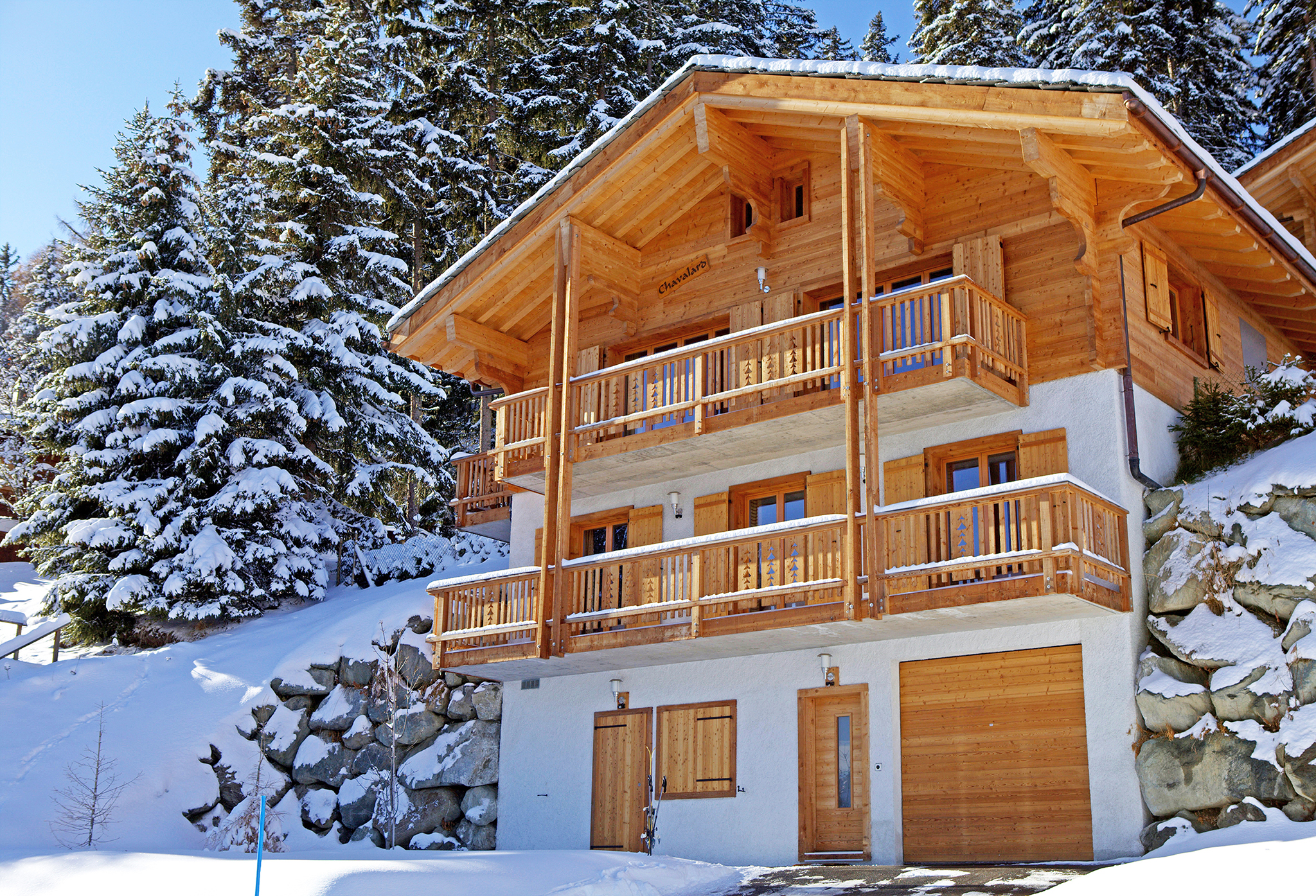ski in holiday house at 1850 metres altitude
